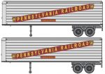Walthers Scenemaster 949-2405 25' Smooth Side Trailer - Pennsylvania Railroad (2)